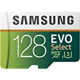 Samsung 128GB 100MB/s (U3) MicroSDXC EVO Select Memory Card with Adapter (MB-ME128GA/AM)