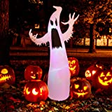 Twinkle Star 5.4 FT Halloween Inflatables Lighted White Ghost, with RGB Color Changing LED Lights Blow Up Yard Ghosts Prop, G