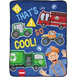 Jay Franco Blippi That's So Cool! Throw Blanket - Measures 46 x 60 inches, Kids Bedding - Fade Resistant Super Soft Fleece (O