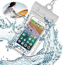防水携帯ケース 最新版 IPX8認定  四重防水 スマホ 防水ケース タッチ可能 ファッションなデザイン 潜水 お風呂 水泳 砂浜 水遊びなど用 iPhone X/6s/6/Plus/SE とAndroid SAMSUNG Galaxy S8/S7 edge/SONY Xperia/HUAWEI スマホ防水ケースなど6インチ以下のスマホに対応