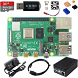DIGISHUO Raspberry Pi 4B Model B 2/4/8GB RAM DIY Kit Case Fan SD Card Micro-SD HDMI (8G Module 8 in 1 Kit)