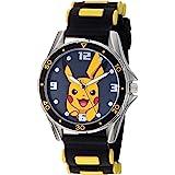 Pokemon Boys' Analog Quartz Watch with Rubber Strap, Black, 13 (Model: POK9056AZ)