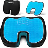 SUPA MODERN Gel Seat Cushion Cooling Coxyx Seat Cushions for Pain Relief with Removable Cover Memory Foam Seat Cushion for Ca