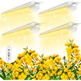 SHOPLED 2ft LED Grow Light Full Spectrum, 80W(4 × 20W), T8 High Output Plant Light Fixture for Sunlight Replacement, Indoor P