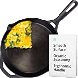 Greater Goods 10 Inch Cast Iron Skillet | Cook Like a Pro with Smooth Milled, Organically Pre-Seasoned Pan Surface | Like the