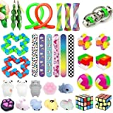 30 Pack Sensory Toys Set, Relieves Stress and Anxiety Fidget Toy, Fun Toys Assortment for Birthday Party Favors, Classroom Re