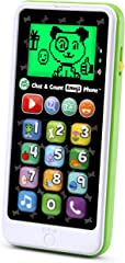 LeapFrog 80-603700 Chat and Count Emoji Smart Phone Learning Toy, Green