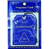 ブルーラベル フレグランスカード サンダルウッド(エアフレッシュナー 芳香剤 平静を取り戻す深みのあるウッディ系の香り)