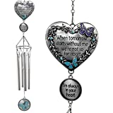BANBERRY DESIGNS Memorial Windchimes Condolence - When Tomorrow Starts Without Me I'm Always in Your Heart Saying - Heart and