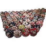 JGARTS 20 Assorted Multicolor Ceramic Drawers Knobs Door Cupboard Pulls Indian Mix Knobs