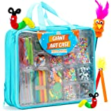Giant Art Case Set of 1,600+ Pc.– Arts and Crafts Supplies for Kids 6+ – DIY Projects Case Filled with Pom Pom Box Craft Kit,
