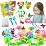 VLUSSO Gifts Toys for 3-6 Year Old Girls - DIY Flower Garden Building Kits Educational Outdoor Activity for Preschool Toddler