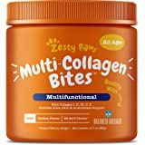 Zesty Paws Multi Collagen Soft Chews for Dogs - for Hip, Joint & Cartilage Support + Skin Health - with Collagen I, II, III,