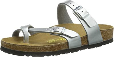 Birkenstock Mayari Regular Fit - Silver 071081 (Man-Made) Womens Sandals 41 EU