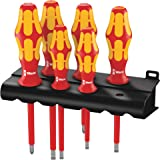 Wera 160 I/6 Rack Kraft Form Plus Insulated Professional Screwdriver 6 Pieces Set, 6 Pieces