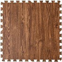 タンスのゲン ジョイントマット 大判59cm 厚み10mm 3畳用 16枚組 木目調 防音 保温性 床暖房対応 ノンホル…