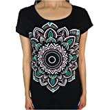 LARVA Ethnic Mandala Flower Yoga Women´s T-Shirt