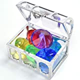 Diving Gem Pool Toy Colorful Big Diamond Set with Treasure Pirate Box Summer Swimming Gem Diving Toys Set Dive Throw Toy Set