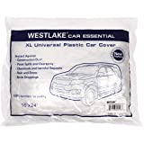 West Lake Car Essential Universal Disposable Clear Plastic Car Cover Suitable for SUV Sedan Mini Van, 24 Feet by 16 Feet Extr