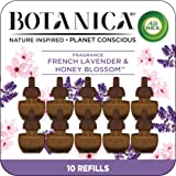 Botanica by Air Wick Plug in Scented Oil, 10 Refills, French Lavender and Honey Blossom, Air Freshener, Eco Friendly, Essenti