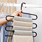 DS Pants Hanger Multi-layer S-style Jeans Trouser Hanger Closet Organize Storage Stainless Steel Rack Space Saver for Tie Sca