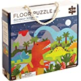 Petit Collage Floor Puzzle, Dinosaur Kingdom, 24-Pieces – Large Puzzle for Kids, Completed Dinosaur Jigsaw Puzzle Measures 18
