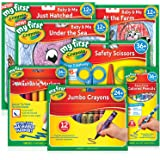 Crayola, Young Artist Pack, My First, Toddler, Junior, Includes 12 Crayons, 8 Pencils, 8 Markers, 3 Different Scissors and 3