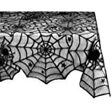 "DII Halloween Lace Tablecloth for Halloween Parties, Decor, & Spooky Meals - 54 x 72"", Black"
