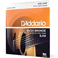 D'Addario ダダリオ アコースティックギター弦 80/20ブロンズ Extra Light .010-.047…