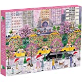 Galison Michael Storrings 1000 Piece Spring on Park Avenue New York City Jigsaw Puzzle for Adults, Vibrant Challenging Puzzle