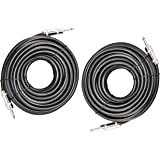 """Ignite Pro 2X 1/4"""" to 1/4"""" 50 Ft. True 12 Gauge Wire AWG DJ/Pro Audio Speaker Cable, Pair"""