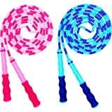 Soft Beaded Jump Rope, Adjustable Tangle - Free Segmented Fitness Skipping Rope for Men, Women and Kids Keeping Fit, Training