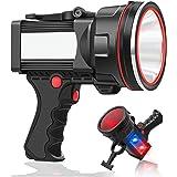 ANLOOK Spotlight Flashlight Handheld Rechargeable 55W 8000 lumen LED Spotlight Outdoor High Bright IPX4 Waterproof for Huntin