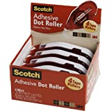 Scotch Adhesive Dot Roller, 0.31 x 49 Feet (6055) Roller 4-Pack CLEAR