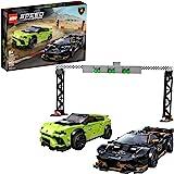 LEGO Speed Champions Lamborghini Urus ST-X and Lamborghini Huracán Super Trofeo EVO 76899 Model Car Building Kit, New 2020 (6