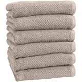 Great Bay Home 100% Cotton, Ultra-Absorbent Popcorn Bath Towels. 6 Elegant Solid Colors. Popcorn Weave. Acacia Collection., C