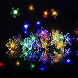 Solpex Solar Strings Lights, 2 Pack Solar Fairy Lights 23 Feet 50 LEDs Flower Lights, Garden Lights for Outdoor, Home, Lawn,