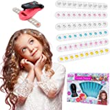 Hair Sparkle Toy Kit Comes with Glam Styling Tool & 80 Gems in a Variety of Round and Star Shapes, Best Gifts for Girl, Add G