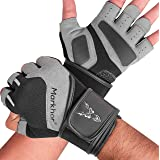 Gym Gloves with Anti-Slip Leather Palm for Weight Lifting Kettlebells Workout Cross Training Fitness Heavy Weight Exercises f