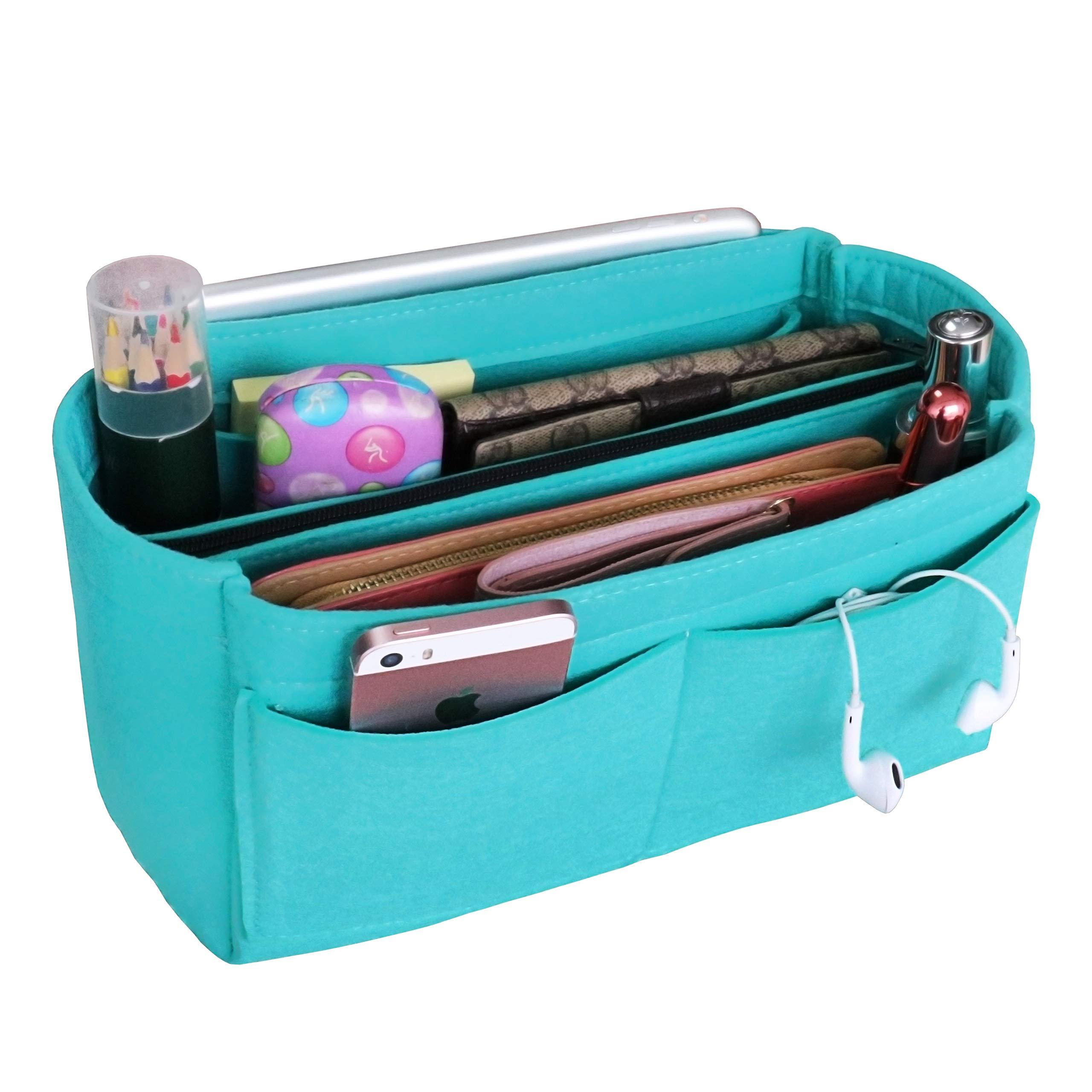 b0e944f24ebd ... 自立 大容量 収納バッグ 防水 軽量 高耐久性 撥水 出勤 旅行 レディース メンズ バックインバック bag in bag(15ポケット)  · apsoonsell Bag Organizer Inner ...