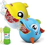 Kidzlane Dolphin & Shark Bubble Machines - 2 Pack Bubble Machine for Kids & Toddlers Outdoors - Kids Bubble Machine, Automati
