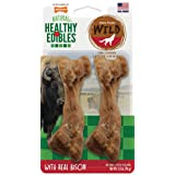 Nylabone Healthy Edibles Wild Bison Dog Treats | All Natural Grain Free Dog Treats Made in The USA Only | Small and Large Dog