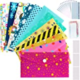 Cash Envelopes Plastic for Budget System - Money Envelopes for Budgeting and Saving, 12 Pack of Assorted Colors, Tear and Wat