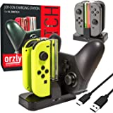 Switch Pro Controller Dock, Orzly Docking Station [with Individual Charge LED Indicator Lights & USB TypeC Cable] for Chargin