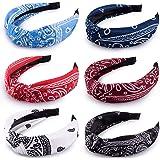 Duufin 6 Pcs Cross Headbands Top Knot Headband Turban Headbands