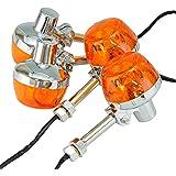 Ager CB系 ホーク ウインカー バルブ ステー付き オレンジ 汎用 4個
