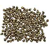 Maydahui 200PCS Mini Jingle Bell 1/4-inch Vintage 6mm Alloy Bronze Color Bead DIY for Sewing Wedding Jewelry Findings and Cra