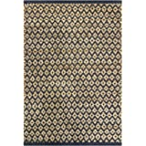 Jute Cotton Diamond Rug 2x3' Hand Woven Reversible Classic Grey Natural Rug,Kitchen Rugs, Farmhouse Rugs, Rugs for Living & B