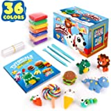 Sago Brothers 36 Colors Modeling Clay for Kids, Soft Molding Clay for DIY Slime, Ultra Light Air Dry Modeling Clay with Clay