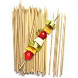 """Fit Meal Prep [500 Pack] 8"""" Bamboo Skewers BBQ Sticks for Shish Kabob, Fondue, Satay, Outdoor Grilling, Marshmallow, Appetize"""